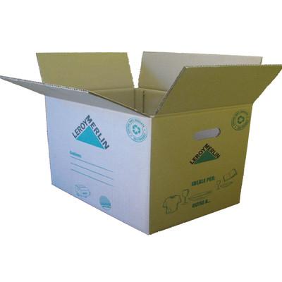 Image of Scatola da imballaggio 2 onde L 60 x H 40 x P 40 cm