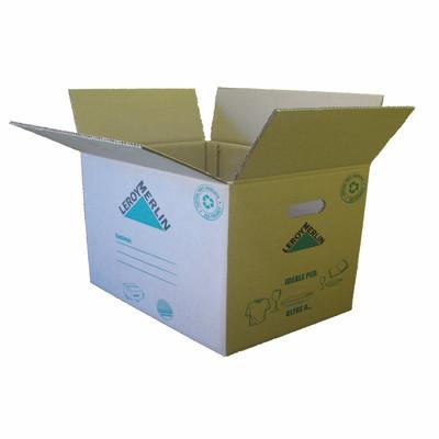 Image of Scatola da imballaggio 2 onde L 80 x H 40 x P 50 cm
