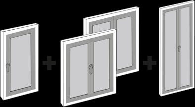 Esempio di 4 finestre in PVC bianco