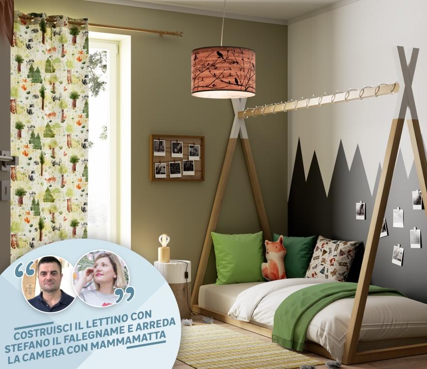 Camera da letto - Arredare la cameretta per bambini in stile Kids Nature