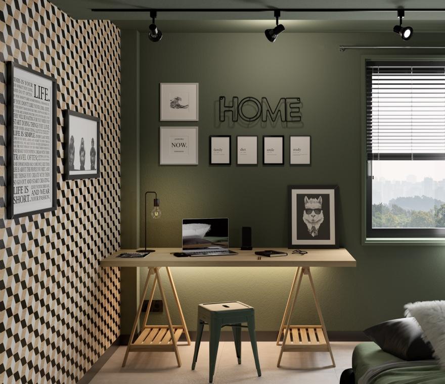 Camera da letto - Angolo studio in stile design
