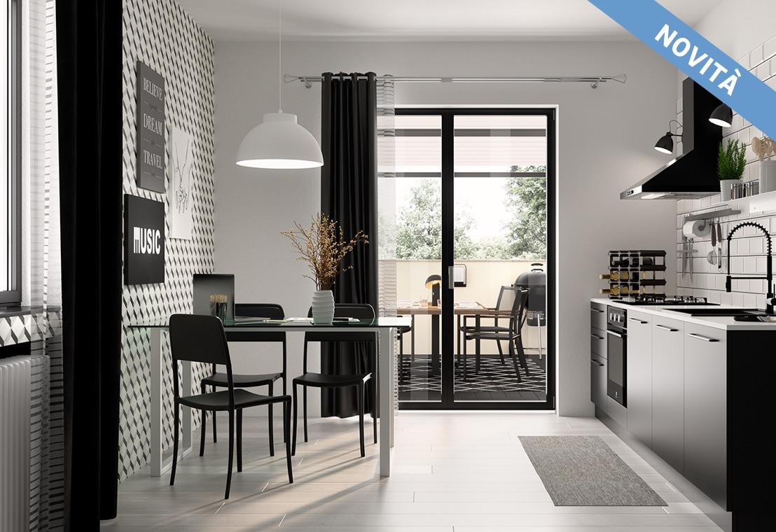 Cucina - Cucina bianca e nera