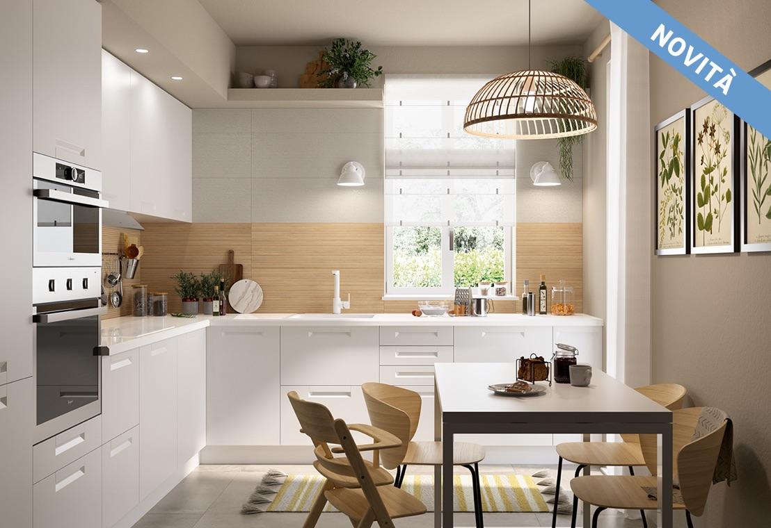 Cucina - Cucina bianca e legno