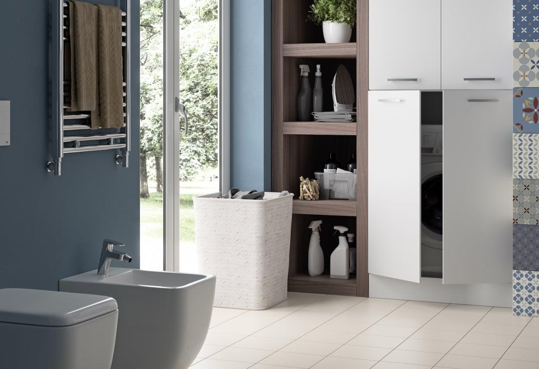 Bagno - Soluzioni per un bagno lavanderia bello e funzionale