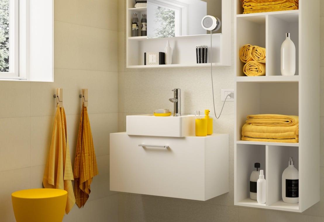 Bagno - Organizzare un bagno piccolo in modo funzionale
