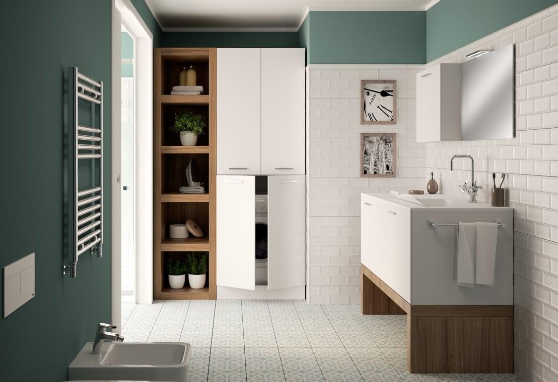 Bagno - Soluzioni per un bagno lavanderia ben organizzato