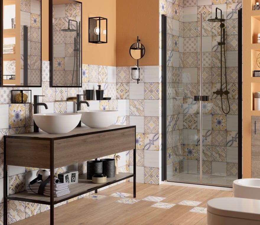 Bagno - Un bagno in stile liberty curato in ogni dettaglio