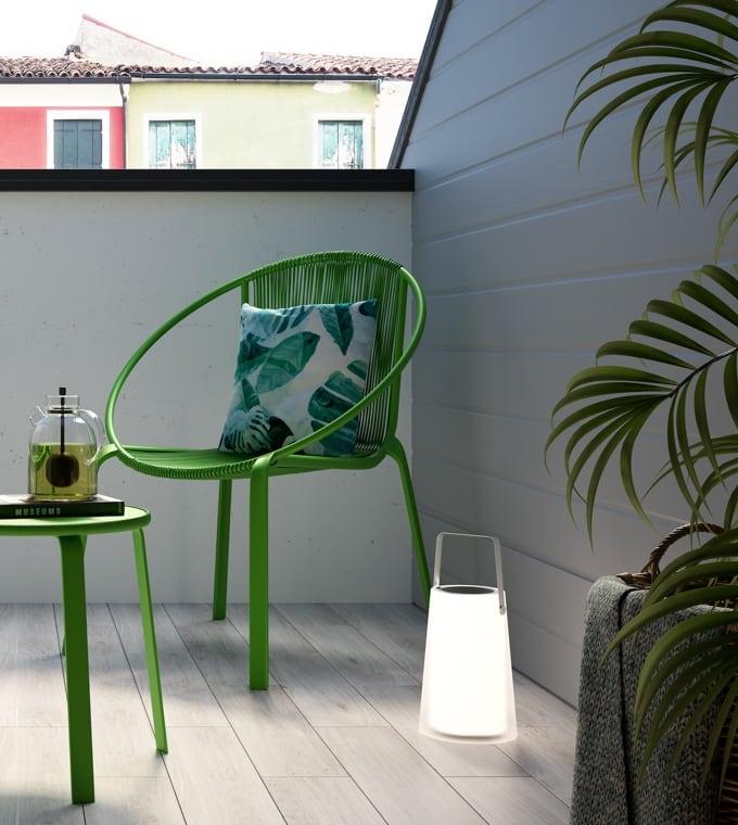Giardino - Arredare un terrazzino con i colori