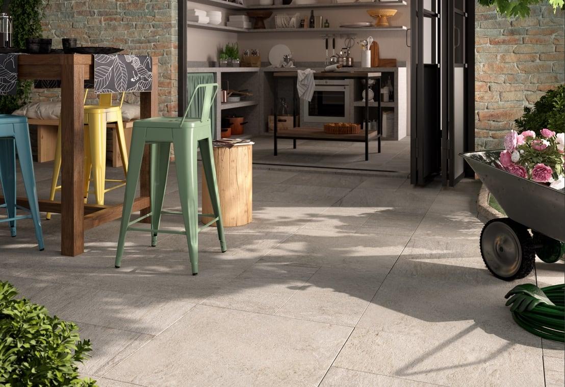 Living - Stesso pavimento indoor e outdoor