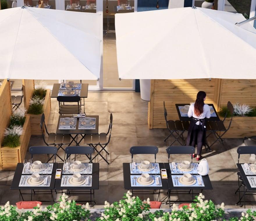 Business - Arredamento da esterno per bistrot con vista