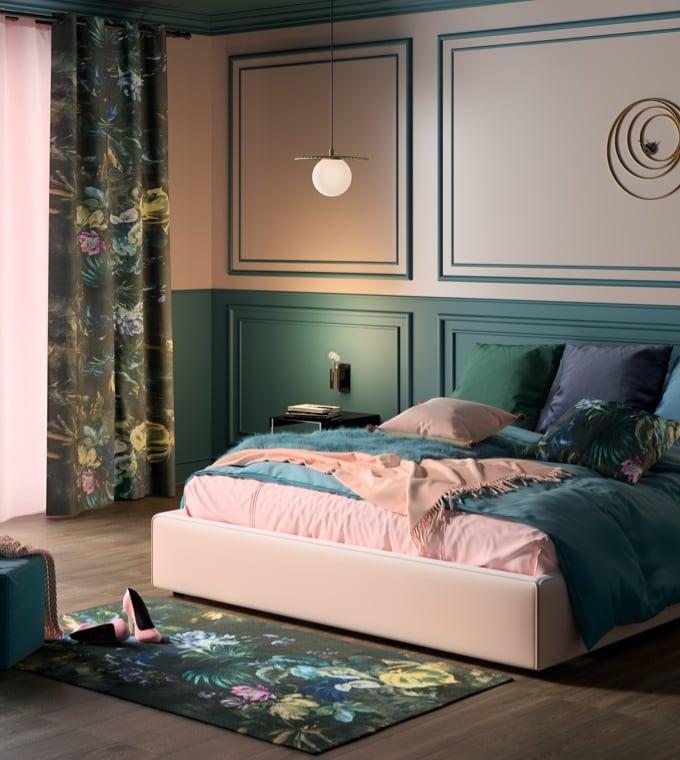 Tendenza - Stile Glam Flower per la camera da letto