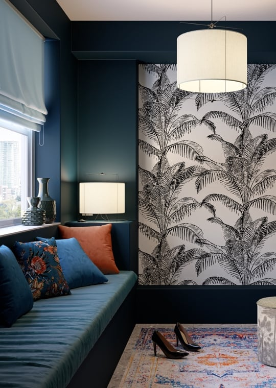 Tendenza - Una casa in stile Glam Flower in Blue