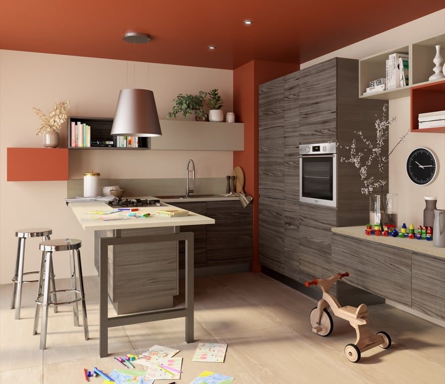 Cucina - Cucina e soggiorno open space