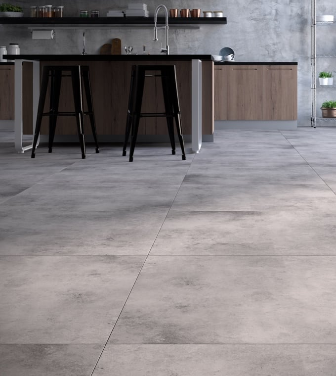 Living - Gres effetto cemento per un living elegantemente urban