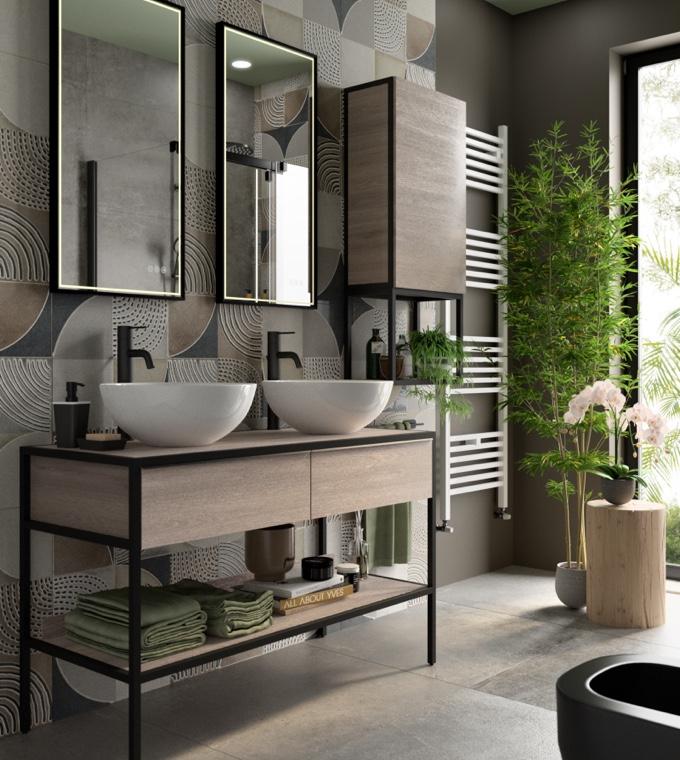Bagno - Un bagno coordinato con il resto della casa
