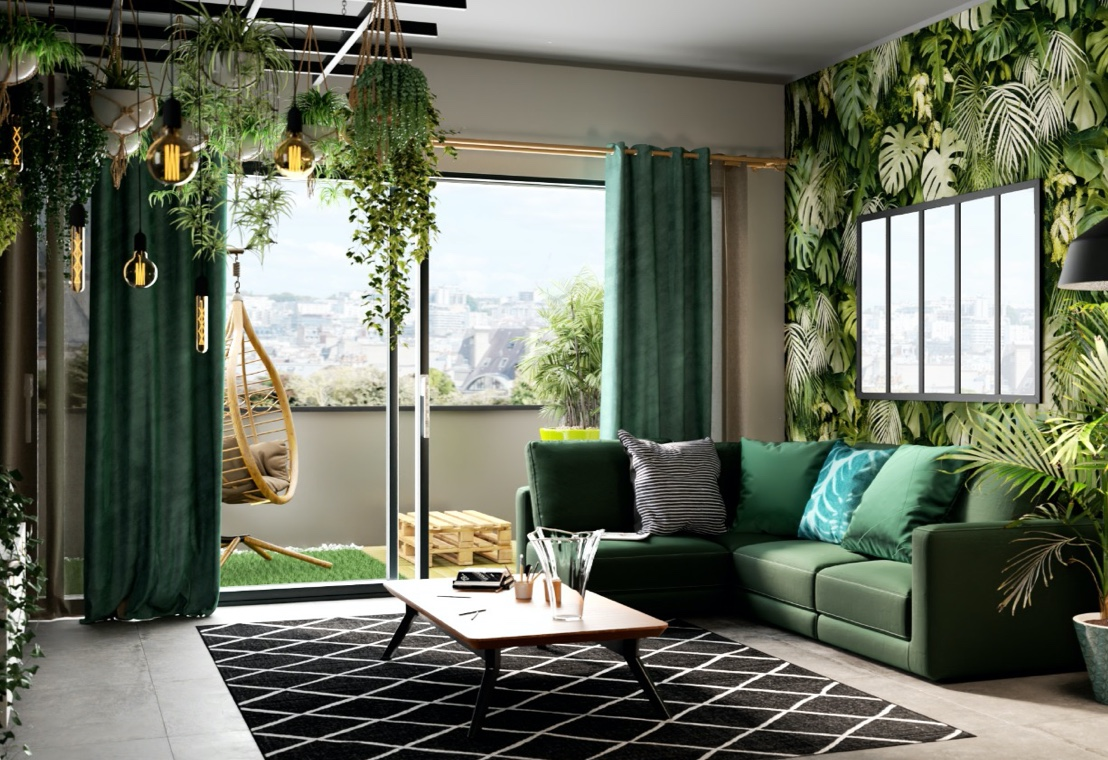 Living - Un living in stile Industrial green