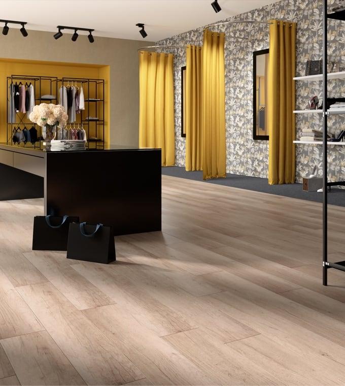 Living - Pavimento effetto legno che scalda  e arreda