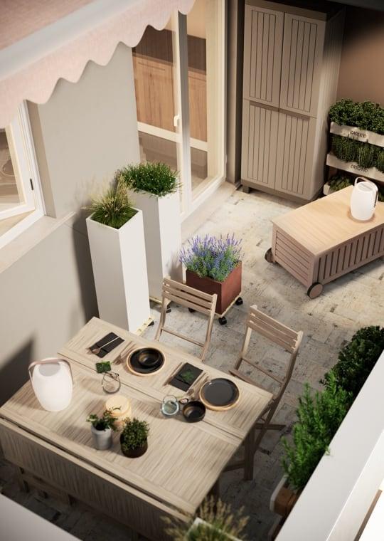 Giardino - Moltiplicare lo spazio su un mini balcone