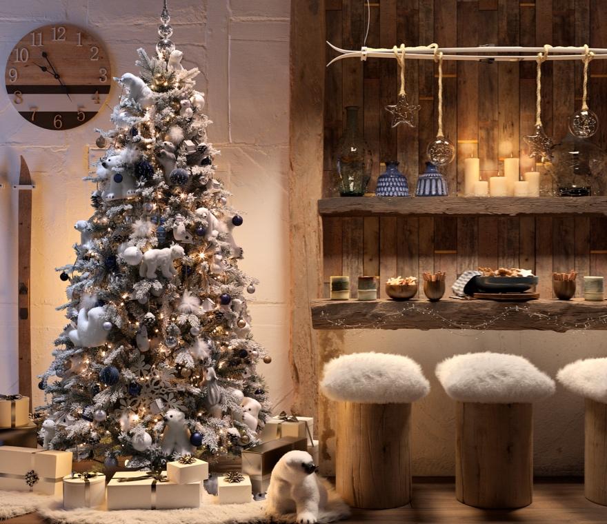 Natale - Una casa addobbata in stile rustico per Natale