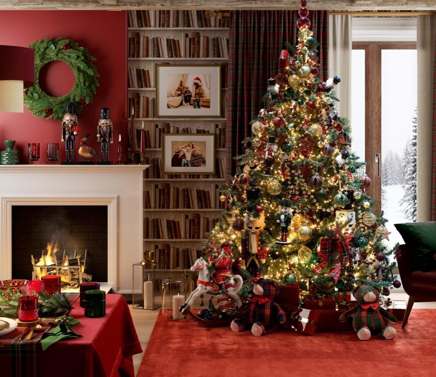 Natale - Un Natale tradizionale nei colori e nei tessuti