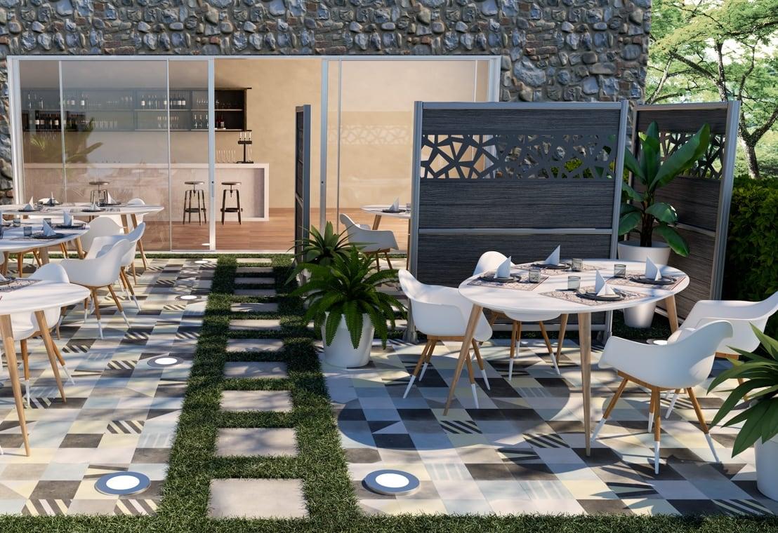 Giardino - Arredare l'esterno di un ristorante ispirandosi agli anni '70