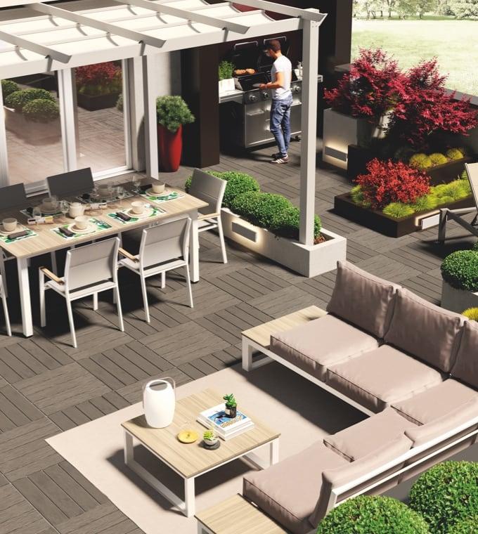 Giardino - Arredare un grande terrazzo per belle serate all'aperto