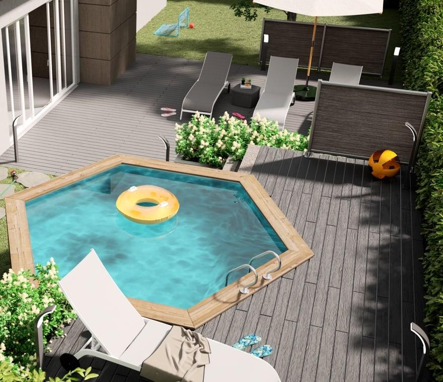 Giardino - Una piscina da esterno per chi non aspetta le vacanze