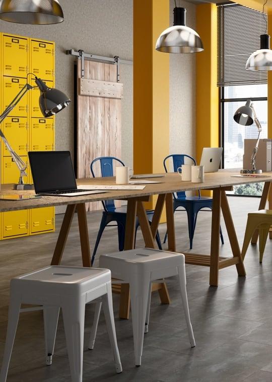 Business - Vinilico effetto pietra nello spazio di lavoro
