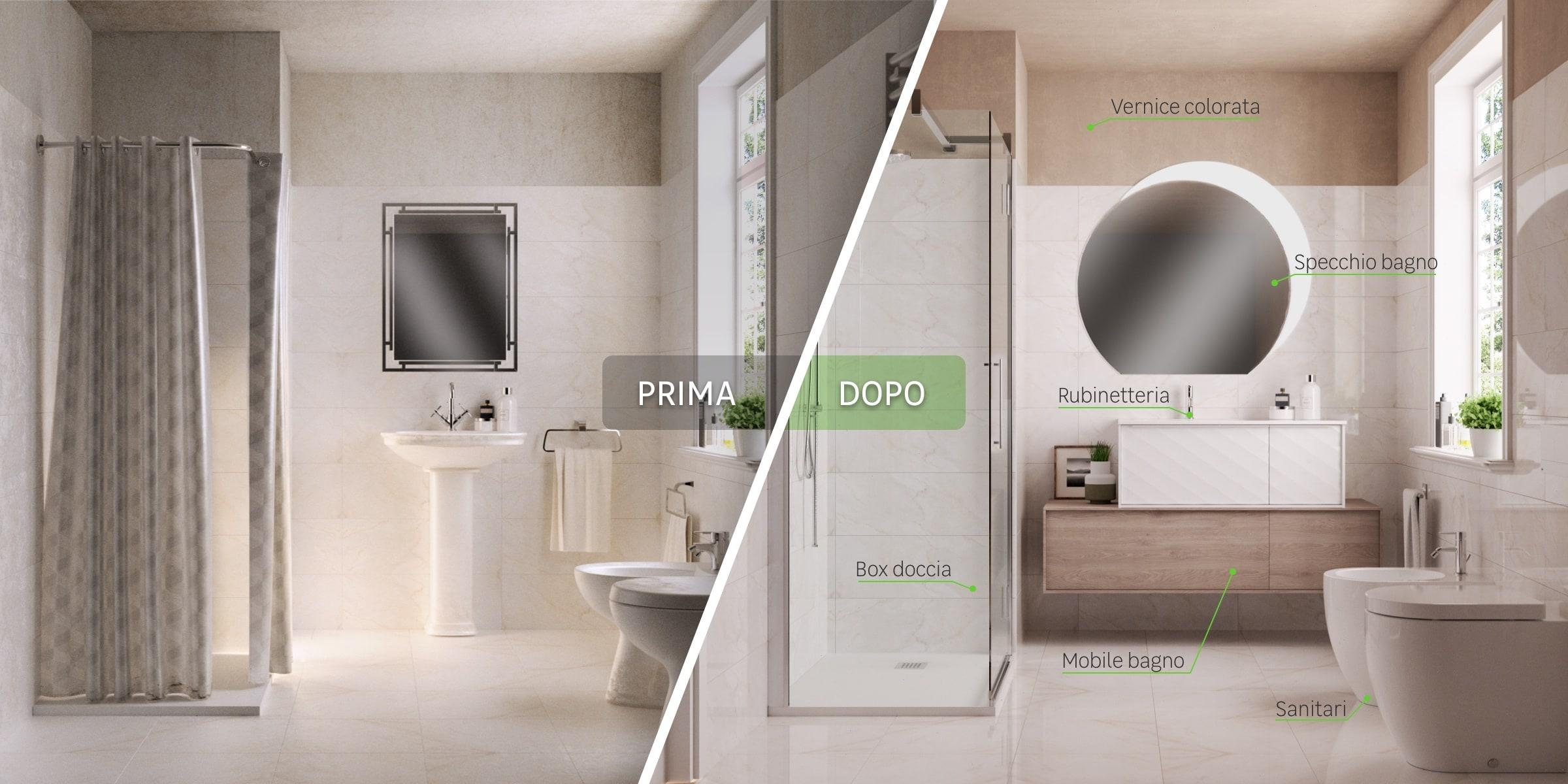 Immagine bagno prima/dopo - desing