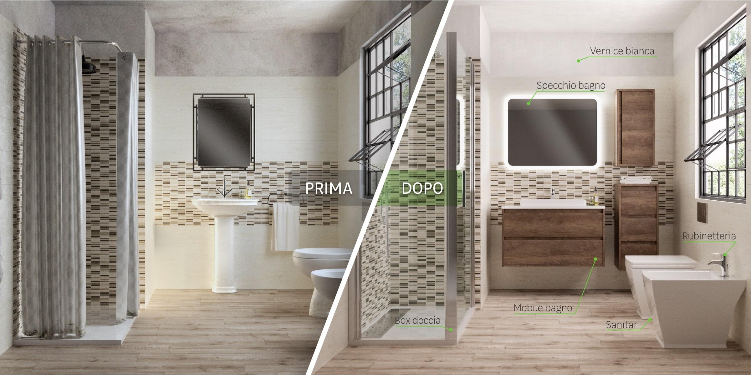 Immagine bagno prima/dopo - urban eco
