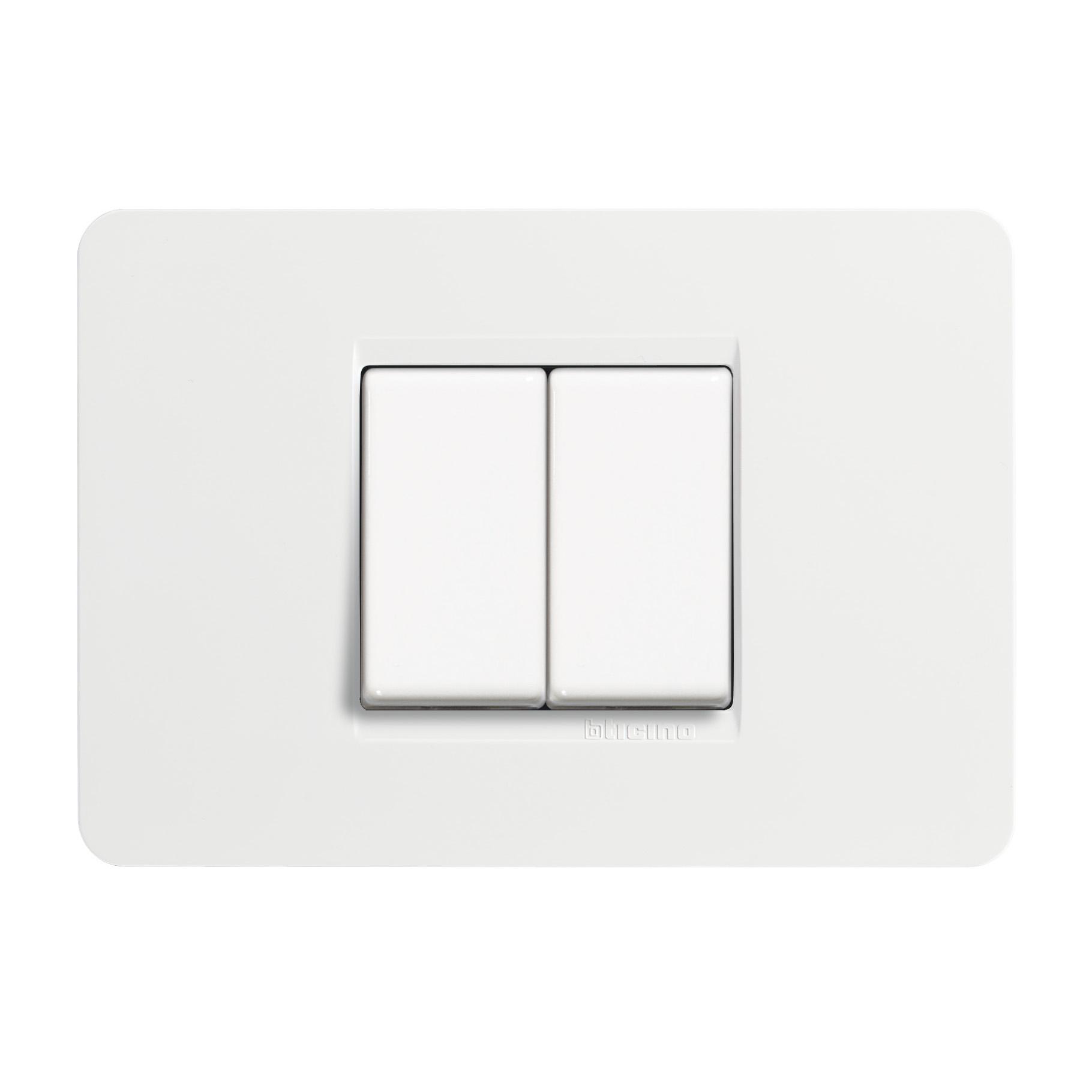 Placca-2-moduli-BTicino-PLACCA-MATIX-2M-CENTRATI-BIANCO-bianco-32842740