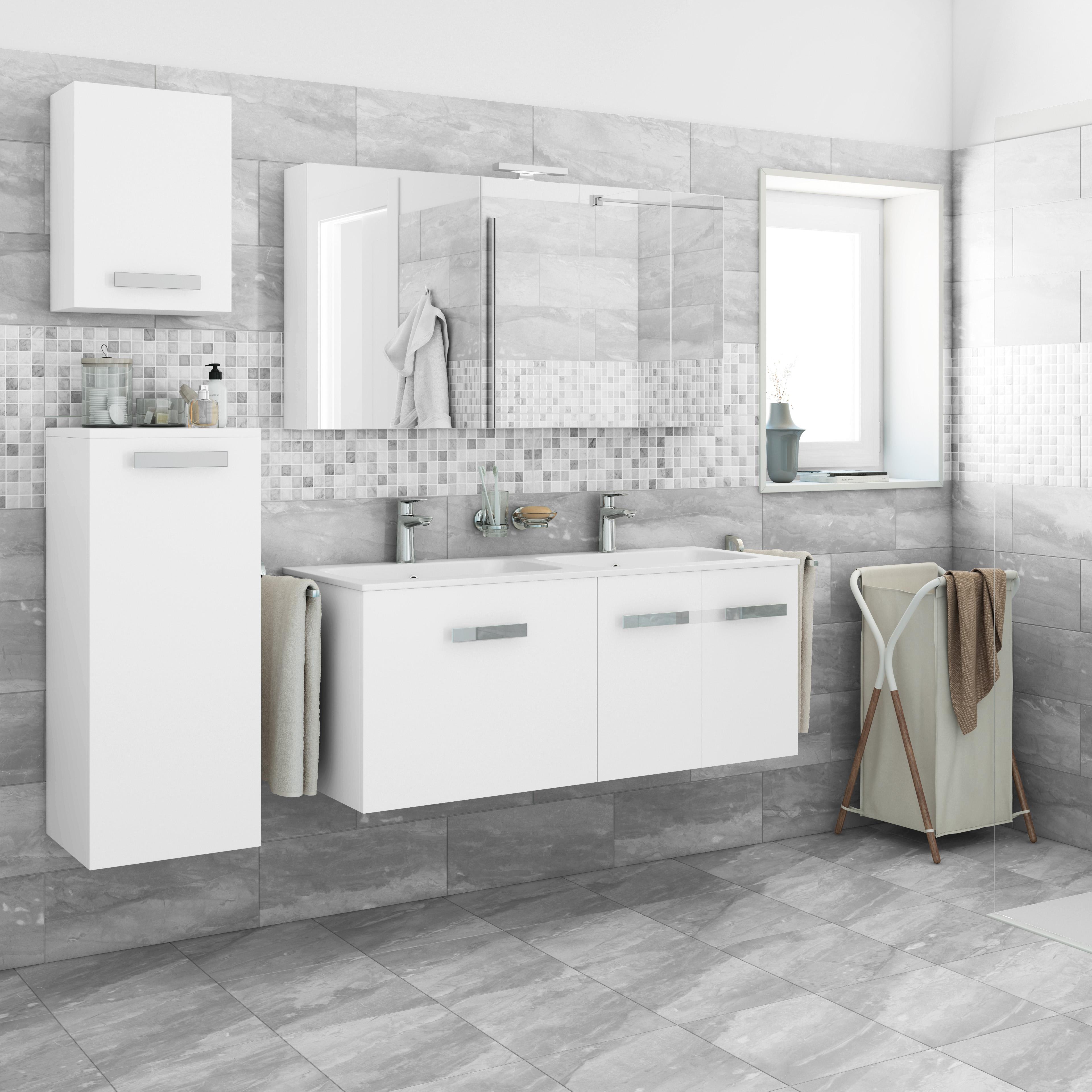 Mobili bagno curvi for Mobile bagno bianco