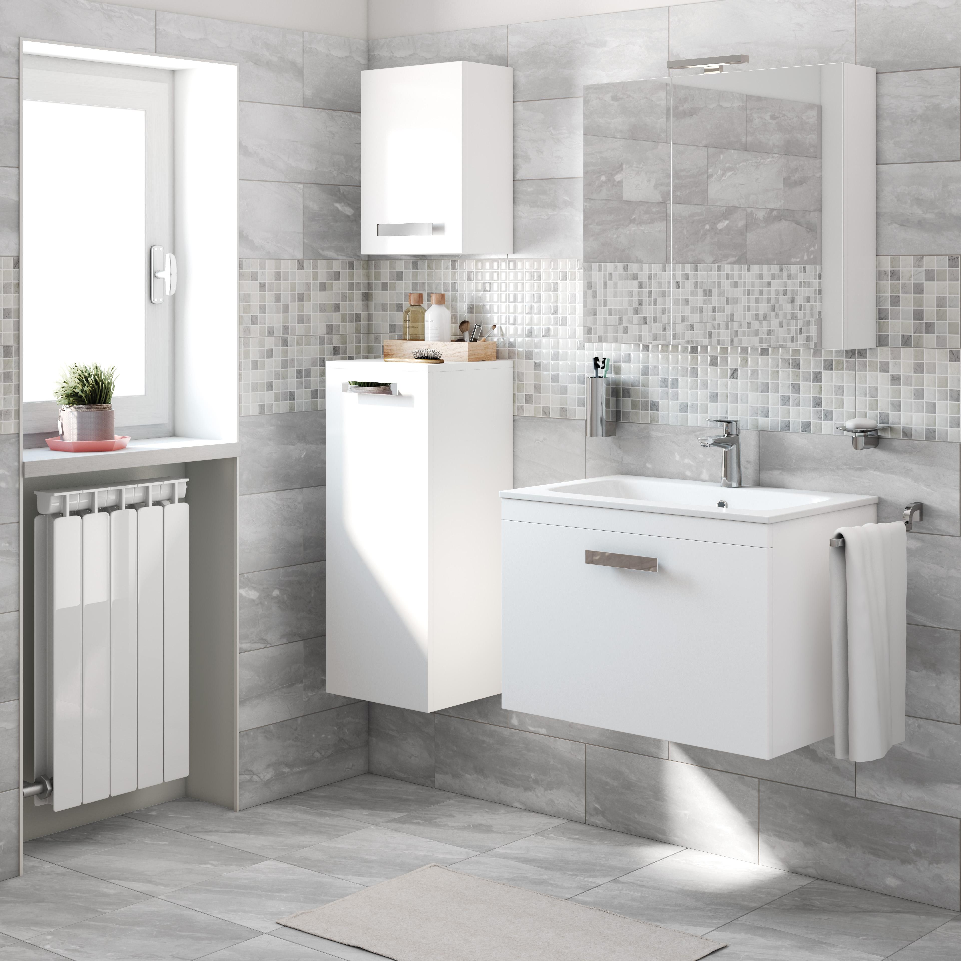 Mobile-bagno-Basic-bianco-L-70-cm-35922334