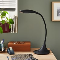 Lampada da scrivania Design flessibile Pico nero , INSPIRE