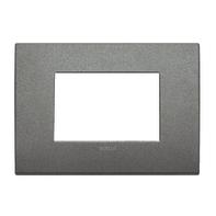 Placca VIMAR Arké 3 moduli titanio matt