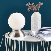 Lampada da comodino Moderno Koze bianco , in metallo, INSPIRE