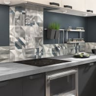 Pannello decorativo della cucina in vetro temperato L 70 x H 60 cm
