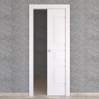Porta scorrevole a scomparsa Alioth bianco L 70 x H 210 cm reversibile