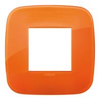 Placca VIMAR Arké 2 moduli reflex orange