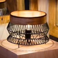 Lampada da tavolo Bohème Manam Nero in metallo, INSPIRE