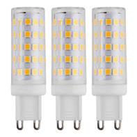 Lampadina LED G9, Capsula,  diffusore Trasparente, col.luce Bianco, Luce naturale, 6W=640LM (equiv 50 W), 360° , set di 3 pezzi