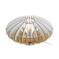 Lampada da tavolo Sotos marrone, bianco, in legno, E27 MAX 60W IP20