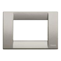 Placca VIMAR Arké Classic 3 moduli titanio metallizzato
