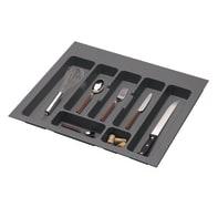 Porta posate in plastica grigio 55.1 x 4.5 x 49 cm DELINIA
