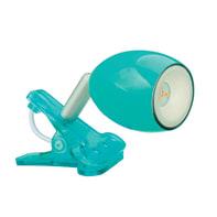 Faretto a pinza Araled azzurro, in acciaio, LED integrato 1.5W IP20 INSPIRE