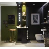 Applique moderno Smila LED integrato nero, in metallo, 60x60 cm, 5 luci INSPIRE