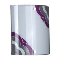 Applique Cammie viola, in vetro, 26x22 cm, E27 MAX60W IP20