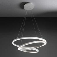 Lampadario Hurricane bianco, in alluminio, diam. 80 cm,  LED 1 luce