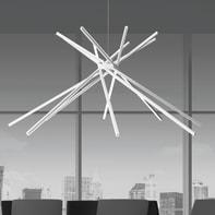 Lampadario Design Shang LED integrato bianco, in alluminio, D. 113 cm