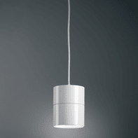 Lampadario Suspence bianco, in alluminio, diam. 11.3 cm,  LED 1 luce